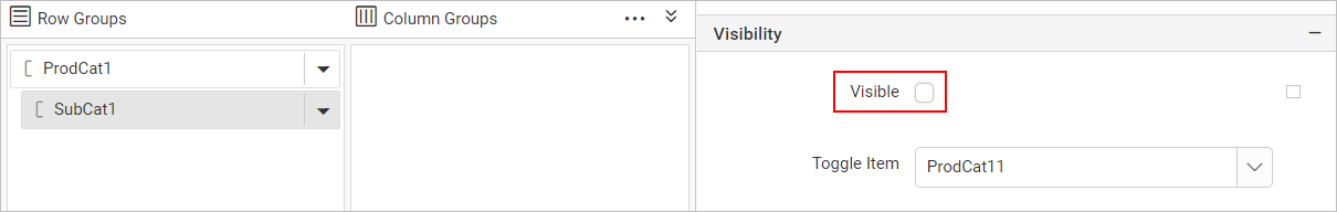 Hide group visibility on preview