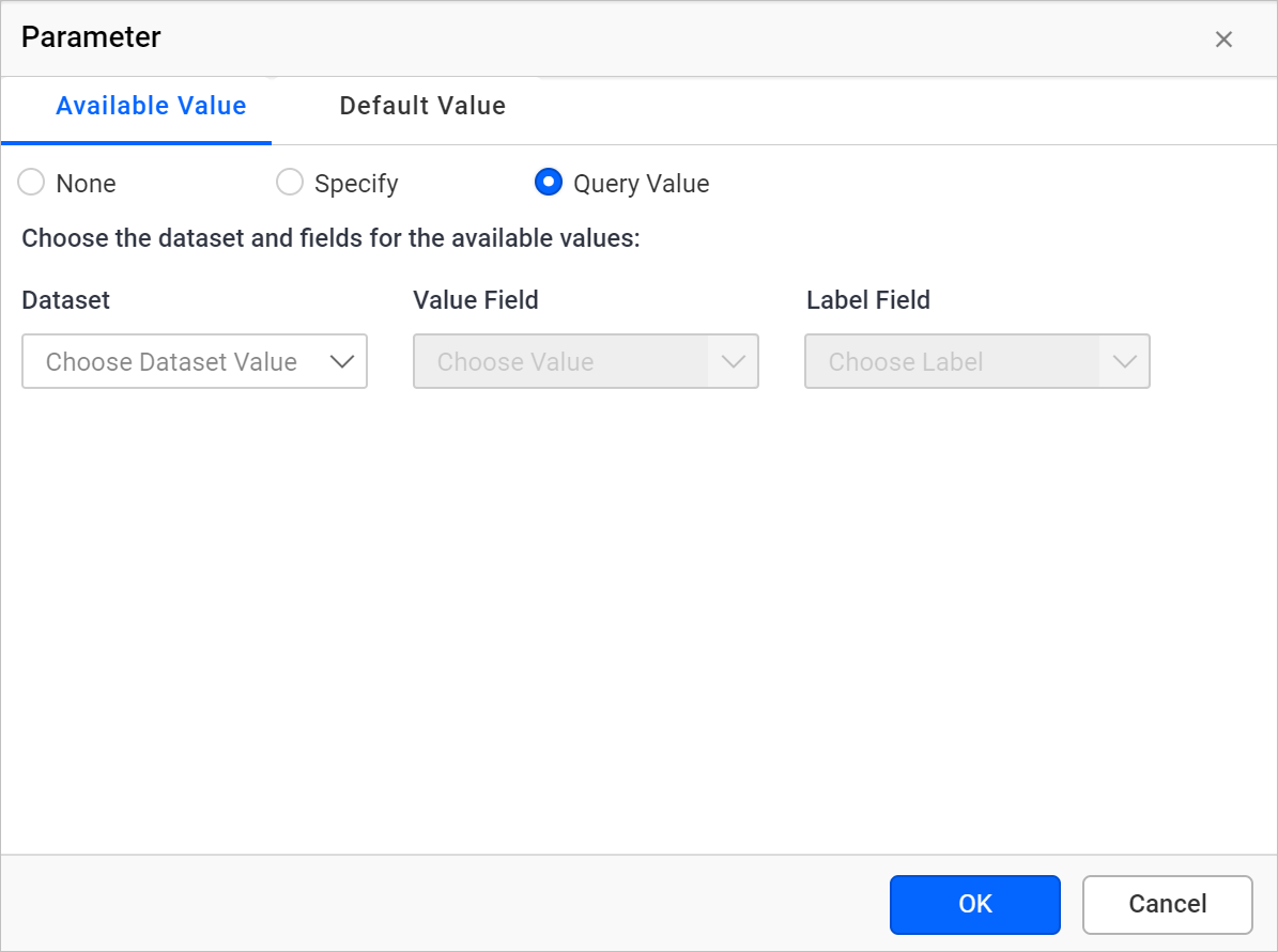 Available value query value option